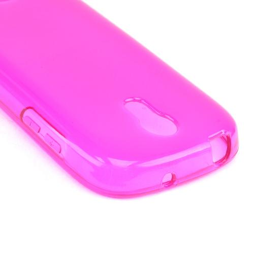 Hot Pink Crystal Silicone Skin Case for Samsung Galaxy Light