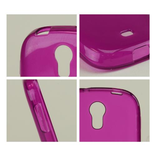 Purple Crystal Silicone Skin Case for Samsung Galaxy Light