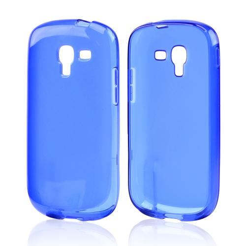 Blue Crystal Silicone Skin Case for Samsung Galaxy Exhibit