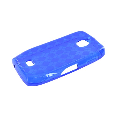 Samsung Exhibit T759 Crystal Silicone Case - Argyle Blue