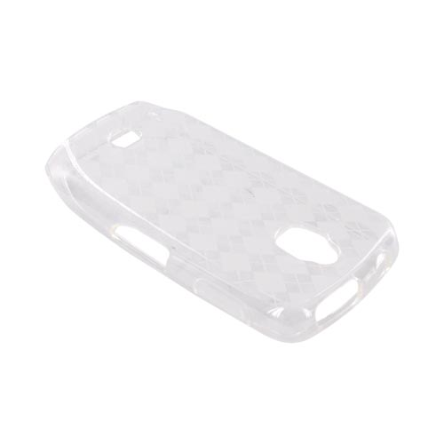 Samsung Exhibit T759 Crystal Silicone Case - Argyle Clear