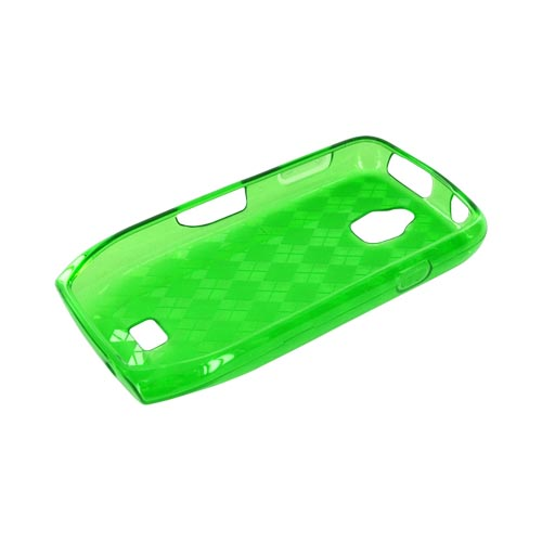 Samsung Exhibit T759 Crystal Silicone Case - Argyle Green