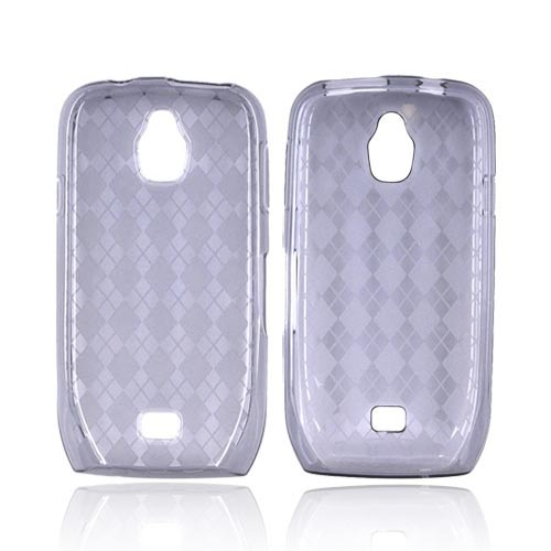 Samsung Exhibit T759 Crystal Silicone Case - Argyle Smoke