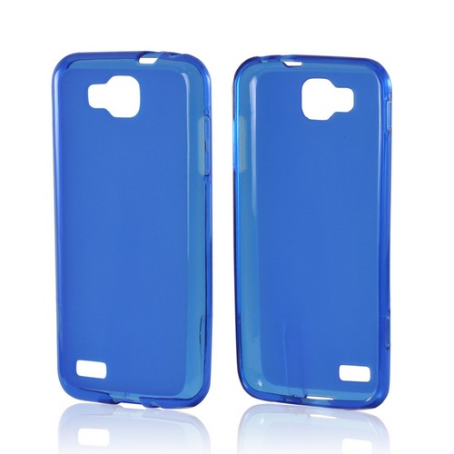 Blue Matte Crystal Silicone Case w/ Polished Border for Samsung T899