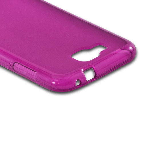 Purple Matte Crystal Silicone Case w/ Polished Border for Samsung T899