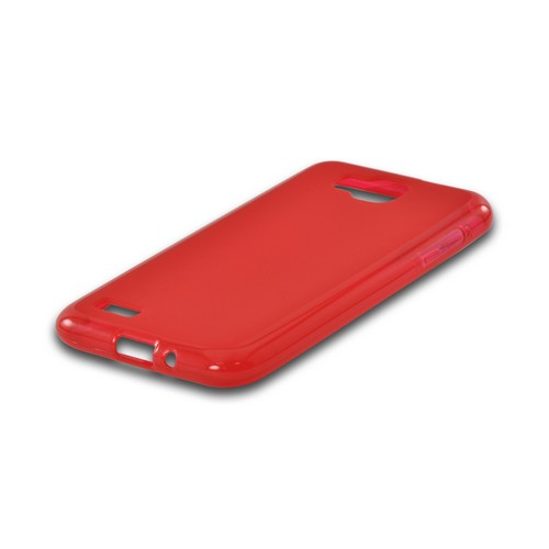 Red Matte Crystal Silicone Case w/ Polished Border for Samsung T899