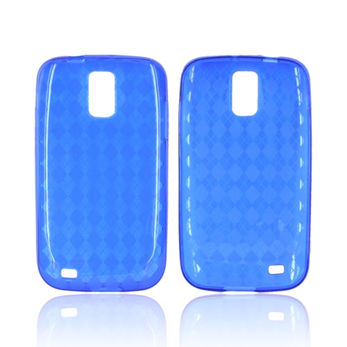 T-Mobile Samsung Galaxy S2 Crystal Silicone Case - Argyle Blue
