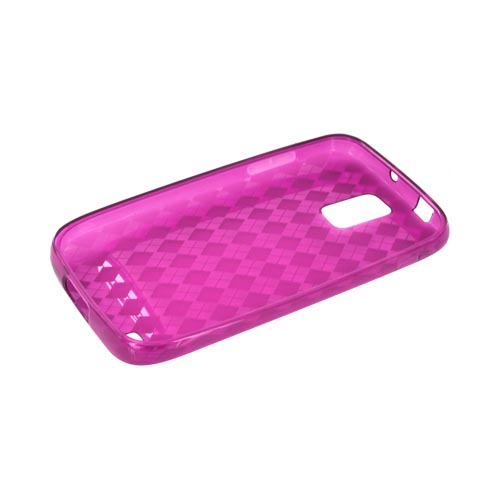 T-Mobile Samsung Galaxy S2 Crystal Silicone Case - Argyle Magenta