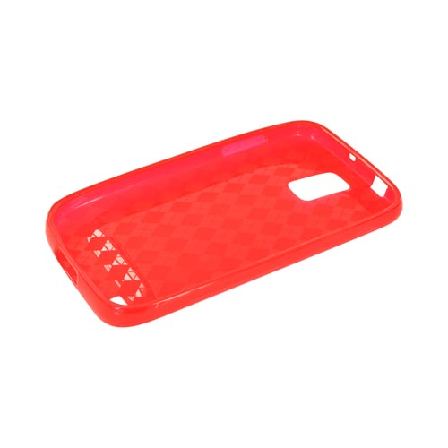 T-Mobile Samsung Galaxy S2 Crystal Silicone Case - Argyle Red