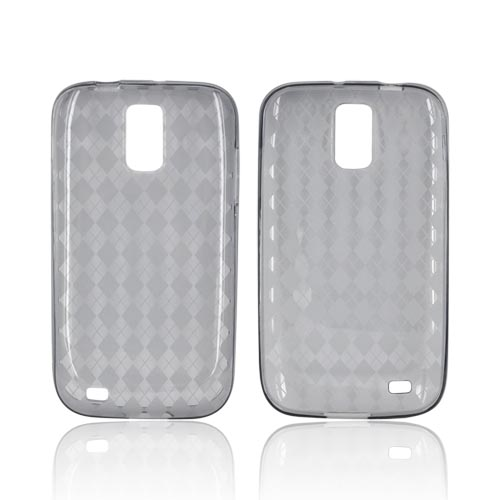 T-Mobile Samsung Galaxy S2 Crystal Silicone Case - Argyle Smoke