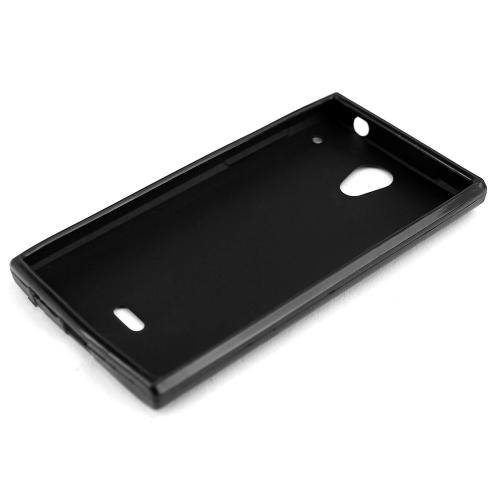 Sharp Aquos Crystal Tpu Case [black] Protective Bumper Case W/ Flexible Crystal Silicone Tpu Impact Resistant Material