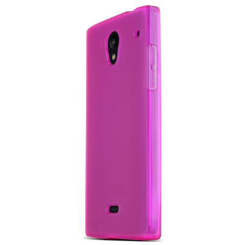 Sharp Aquos Crystal Tpu Case [hot Pink] Protective Bumper Case W/ Flexible Crystal Silicone Tpu Impact Resistant Material