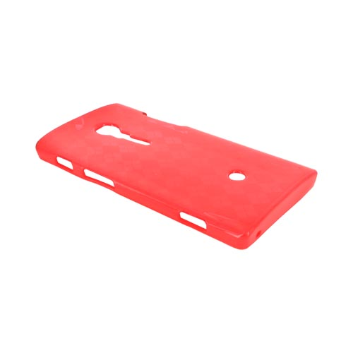 Sony Xperia Ion T28i Crystal Silicone Case - Argyle Red