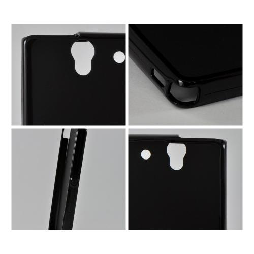 Black (Argyle Interior) Crystal Silicone Case for Sony Xperia Z