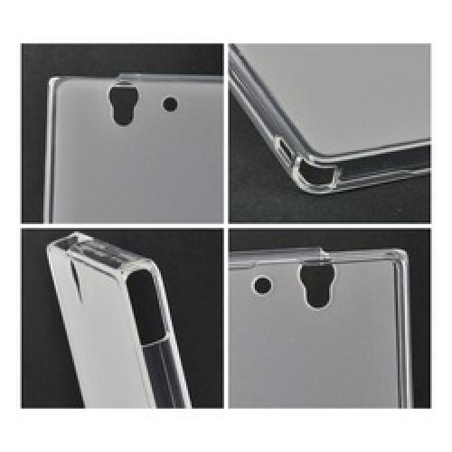 Matte Clear Crystal Silicone Case w/ Polished Borders for Sony Xperia Z
