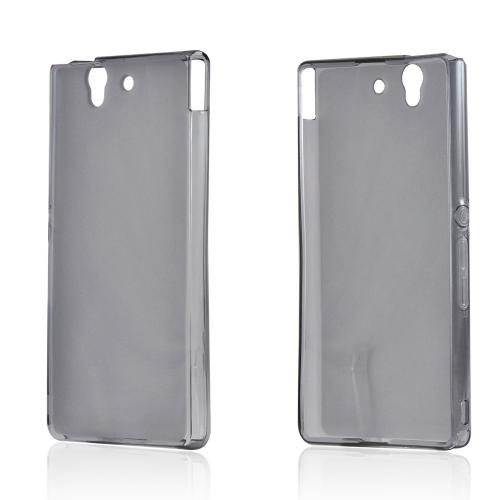 Matte Smoke Crystal Silicone Case w/ Polished Borders for Sony Xperia Z