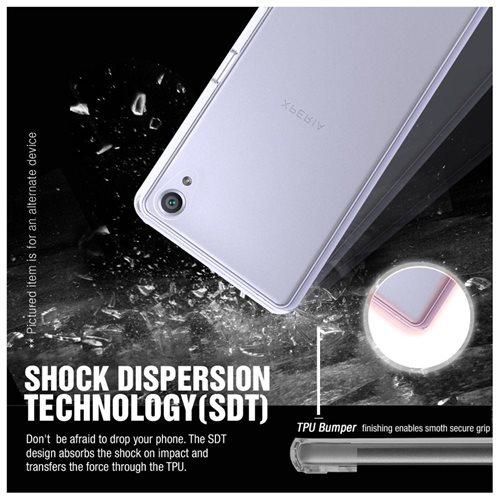 Sony Xperia XA Case, REDshield [Black] Slim & Flexible Anti-shock Crystal Silicone Protective TPU Gel Skin Case Cover