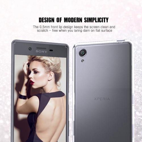 Sony Xperia X Performance Case, REDshield [Clear] Slim & Flexible Anti-shock Crystal Silicone Protective TPU Gel Skin Case Cover