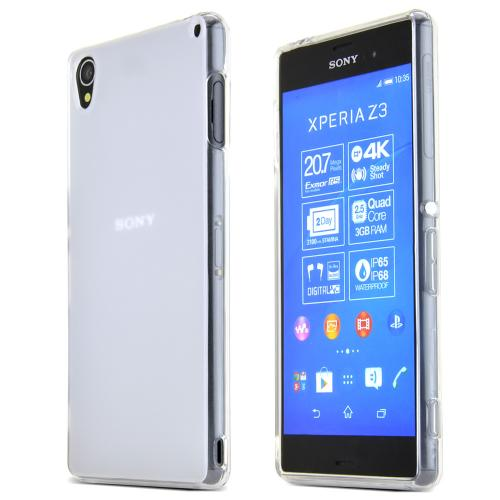 Sony Xperia Z3 Tpu Case [clear/frost] Protective Bumper Case W/ Flexible Crystal Silicone Tpu Impact Resistant Material