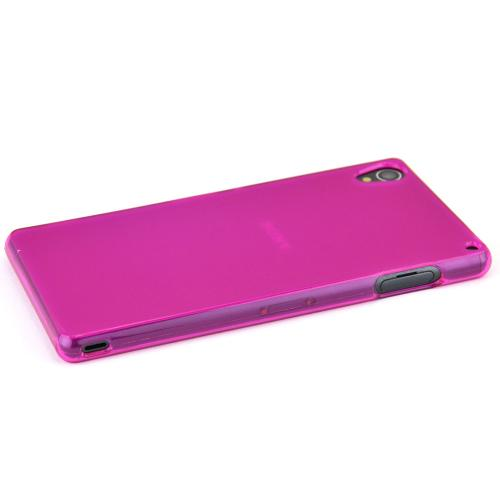 Sony Xperia Z3 Tpu Case [pink/frost] Protective Bumper Case W/ Flexible Crystal Silicone Tpu Impact Resistant Material