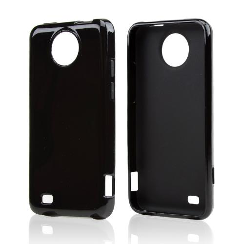 Black Crystal Silicone Skin Case for ZTE Vital