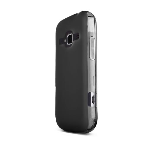 Black ZTE Concord 2 Flexible Crystal Silicone TPU Case - Conforms To Your Phone Without Stretching Out!