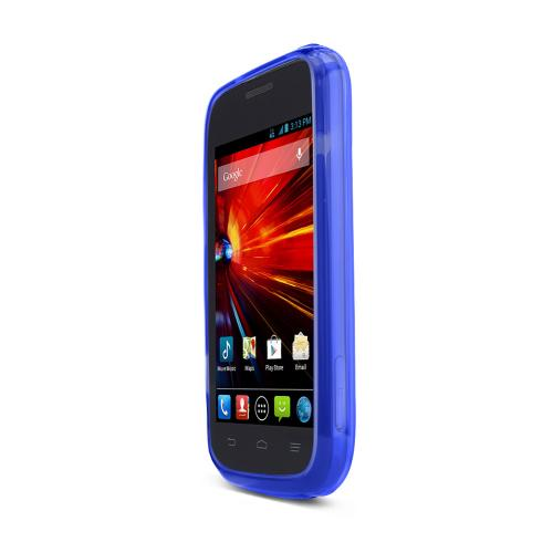 Blue ZTE Concord 2 Flexible Crystal Silicone TPU Case - Conforms To Your Phone Without Stretching Out!