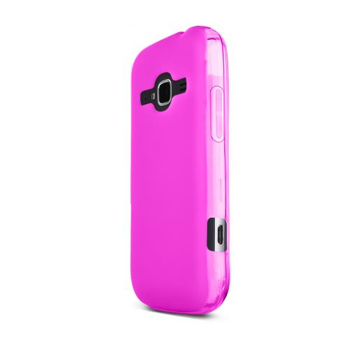 Hot Pink ZTE Concord 2 Flexible Crystal Silicone TPU Case - Conforms To Your Phone Without Stretching Out!
