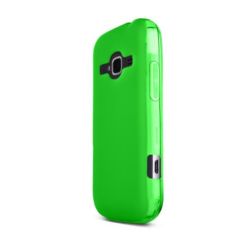 Neon Green ZTE Concord 2 Flexible Crystal Silicone TPU Case - Conforms To Your Phone Without Stretching Out!