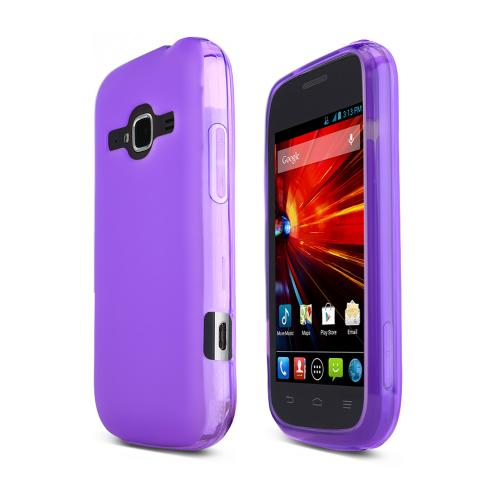 Purple ZTE Concord 2 Flexible Crystal Silicone TPU Case - Conforms To Your Phone Without Stretching Out!
