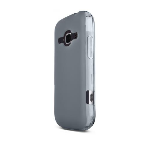 Smoke ZTE Concord 2 Flexible Crystal Silicone TPU Case - Conforms To Your Phone Without Stretching Out!