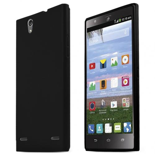 ZTE Lever Z936L Case, BLACK Slim & Flexible Crystal Silicone TPU Protective Case