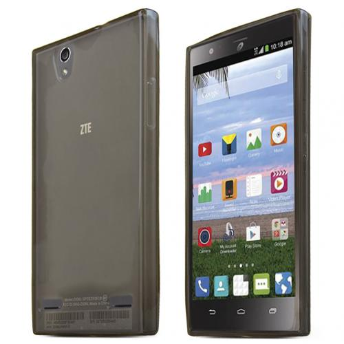 ZTE Lever Z936L Case, SMOKE Slim & Flexible Crystal Silicone TPU Protective Case