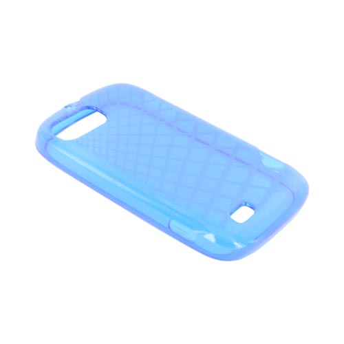 ZTE Fury N850 Crystal Silicone Case - Grid Blue