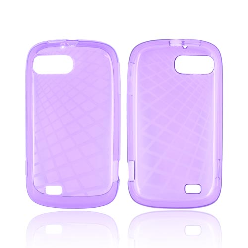 ZTE Fury N850 Crystal Silicone Case - Grid Purple