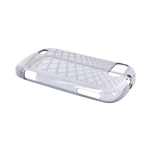 ZTE Fury N850 Crystal Silicone Case - Grid Smoke