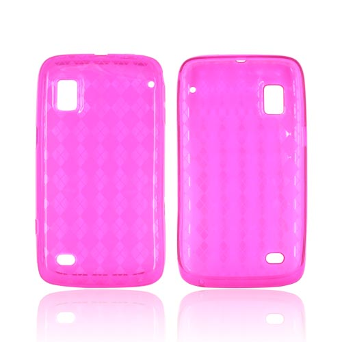 ZTE Warp Crystal Silicone Case - Argyle Hot Pink