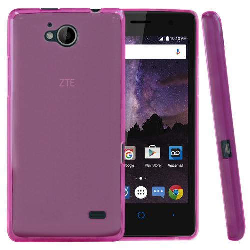 [ZTE Tempo] Case, REDshield [Hot Pink] Slim & Flexible Anti-shock Crystal Silicone Protective TPU Gel Skin Case Cover