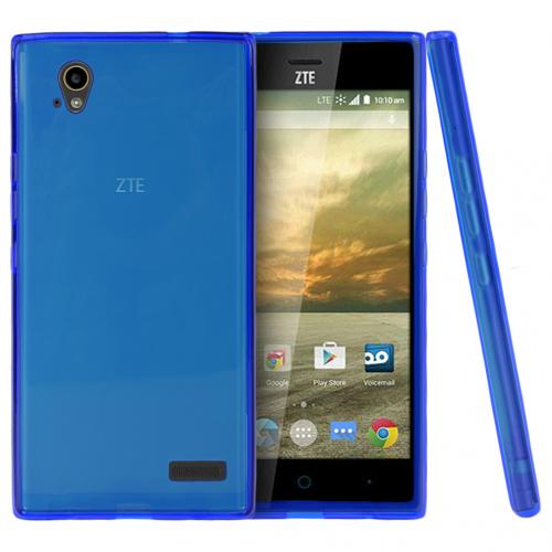 ZTE Warp Elite Case, [Blue] Slim & Flexible Crystal Silicone TPU Protective Case