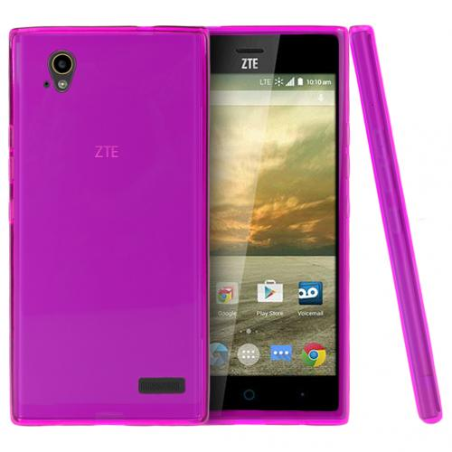 ZTE Warp Elite Case, [Hot Pink] Slim & Flexible Crystal Silicone TPU Protective Case