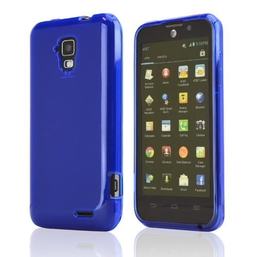 Blue/ Frost Crystal Silicone Skin Case for AT&T Z998