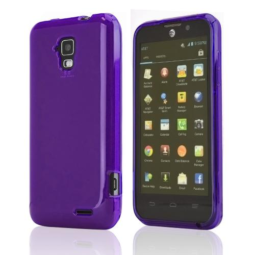 Purple/ Frost Crystal Silicone Skin Case for AT&T Z998