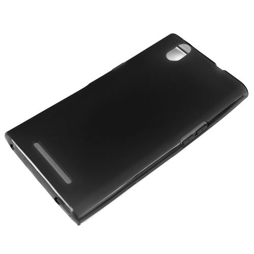 ZMax Case, [Black] Slim & Flexible Crystal Silicone TPU Skin Cover for ZTE ZMax
