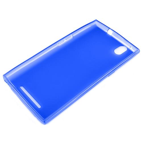 ZMax Case, [Blue / Frost] Slim & Flexible Crystal Silicone TPU Skin Cover for ZTE ZMax