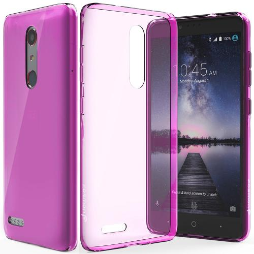 ZTE Z Max Pro Case, Slim & Flexible Anti-shock Crystal Silicone Protective TPU Gel Skin Case Cover [Hot Pink]