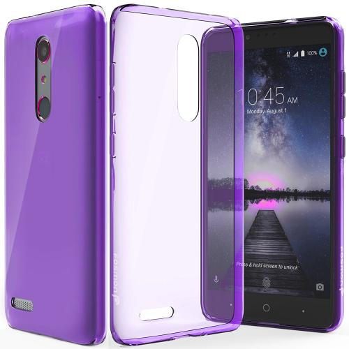 ZTE Z Max Pro Case, Slim & Flexible Anti-shock Crystal Silicone Protective TPU Gel Skin Case Cover [Purple]