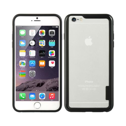 Black TPU Crystal Silicone Bumper Made for Apple iPhone 6/6S Plus (5.5 inch) - Show off Your Device While Protecting it!