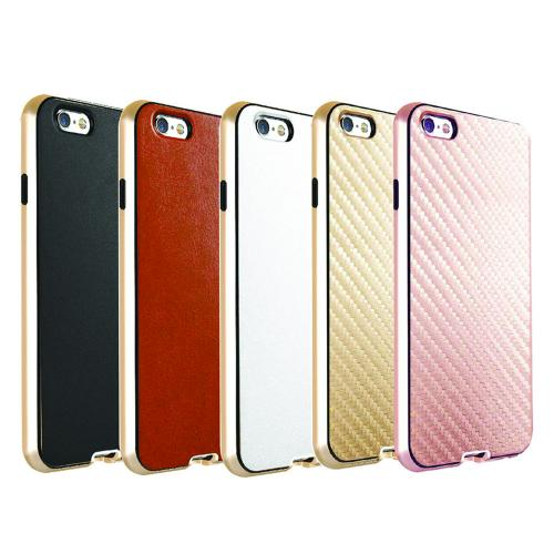 [Apple iPhone 6/6S] (4.7 inch) Case, Incircle [Dual Protection Series] Premium Carbon Fiber Design Bumper Cover Case [Gold]