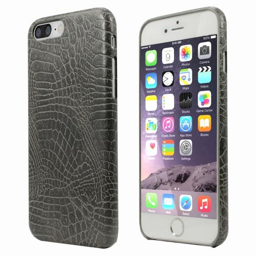 [Apple iPhone 7 Plus] (5.5 inch) Case, Incircle [Bareskin Series] Ultra Slim Fit Faux Leather Flexible Bumper Case [Gray Alligator]