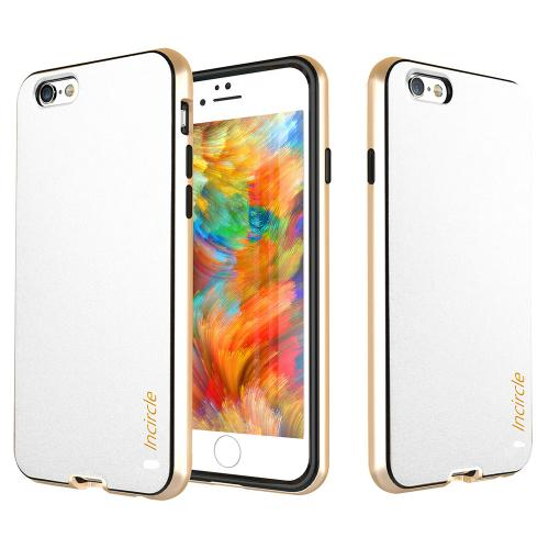 Apple iPhone 6S/6 (4.7 inch) Case, Incircle [Dual Protection Series] Premium Faux Leather Bumper Cover Case [White]